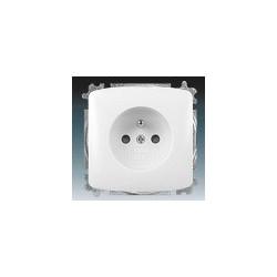 Zásuvka jednonásobná, chráněná, s clonkami, s bezšroub. svorkami bílá ABB Tango 5519A-A02357 B