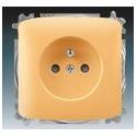 Zásuvka jednonásobná, chráněná, s clonkami, s bezšroub. svorkami béžová ABB Tango 5519A-A02357 D