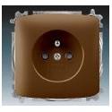 Zásuvka jednonásobná, chráněná, s clonkami, s bezšroub. svorkami hnědá ABB Tango 5519A-A02357 H