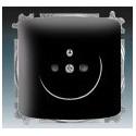 Zásuvka jednonásobná, chráněná, s clonkami, s bezšroub. svorkami černá ABB Tango 5519A-A02357 N