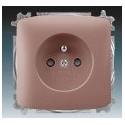 Zásuvka jednonásobná, chráněná, s clonkami, s bezšroub. svorkami vřesová červená ABB Tango 5519A-A02357 R2