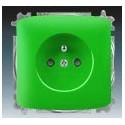 Zásuvka jednonásobná, chráněná, s clonkami, s bezšroub. svorkami zelená ABB Tango 5519A-A02357 Z