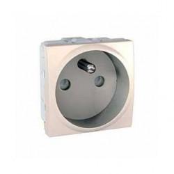 Zásuvka 230V/16A, 2P+PE s clonkami,marfil MGU3.039.25 UNICA Schneider Electric
