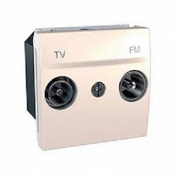 Zásuvka TV-R průchozí, 17dB, marfil MGU3.453.25 UNICA Schneider Electric