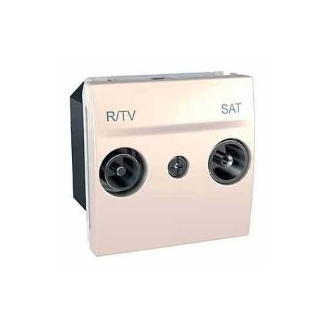 ZásuvkaTV/R-SAT průchozí,marfil MGU3.456.25 UNICA Schneider Electric