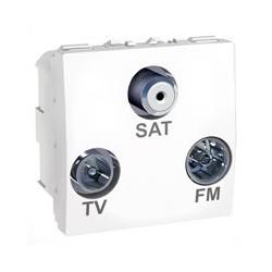 R/TV/SAT zásuvka s F-konektorem, koncová, polar MGU3.450.18 UNICA Schneider Electric