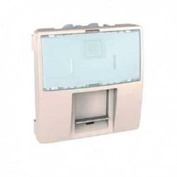 Zásuvka datová 1xRJ45 S-One, kat.5e UTP, 2m, marfil MGU3.411.25 UNICA Schneider Electric