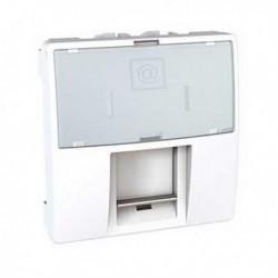 Zásuvka datová 1xRJ45 S-One, kat.6 UTP, 2m, polar MGU3.415.18 UNICA Schneider Electric