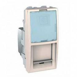Zásuvka datová 1xRJ45 S-One, kat.6 UTP, 1m, marfil MGU3.414.25 UNICA Schneider Electric