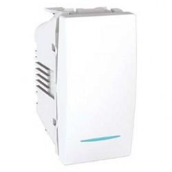 Vypínač, spínač jednopólový s orient. kontrolkou, č.1So,1mod.,polar MGU3.101.18N UNICA Schneider Electric