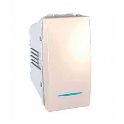 Vypínač, spínač jednopólový s orient. kontrolkou, č.1So,1mod.,marfil MGU3.101.25N UNICA Schneider Electric