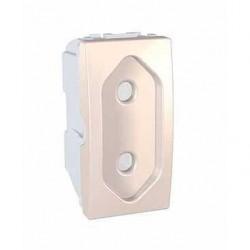 Zásuvka 230V/10A pro ploché vidlice, marfil MGU3.031.25 UNICA Schneider Electric