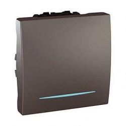 Vypínač, ovládač tlačítkový s orient. kontrolkou, č.1/0So,grafit MGU3.206.12N UNICA Schneider Electric