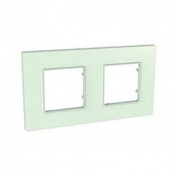 Krycí rámeček Quadro dvojnásobný, Green MGU2.704.17 UNICA Quadro Schneider Electric
