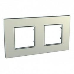 Krycí rámeček Quadro dvojnásobný, Titanium MGU6.704.57 UNICA Quadro Schneider Electric