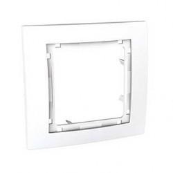 Krycí rámeček bez dekorativního rámečku jednonásobný,polar MGU4.002.18 UNICA Colors Schneider Electric