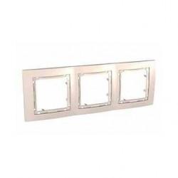 Krycí rámeček bez dekorativního rámečku trojnásobný,marfil MGU4.006.25 UNICA Colors Schneider Electric