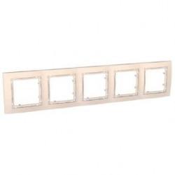 Krycí rámeček bez dekorativního rámečku pětinásobný,marfil MGU4.010.25 UNICA Colors Schneider Electric