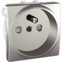 Zásuvka 230V/16A, 2P+PE s clonkami,aluminiaum MGU3.039.30 UNICA Schneider Electric