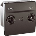 ZásuvkaTV/R-SAT koncová,grafit MGU3.454.12 UNICA Schneider Electric