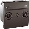 ZásuvkaTV/R-SAT průchozí,grafit MGU3.456.12 UNICA Schneider Electric