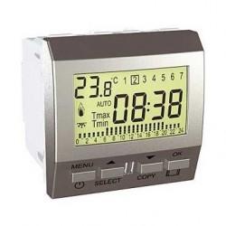 Termostat týdenní programovatelný s podlahovým čidlem, aluminiaum MGU3.505.30P UNICA Schneider Electric
