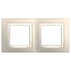 Krycí rámeček dvojnásobný kompletní, Cream/marfil MGU2.004.559 UNICA Basic Schneider Electric
