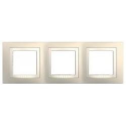Krycí rámeček trojnásobný kompletní, Cream/marfil MGU2.006.559 UNICA Basic Schneider Electric