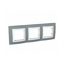 Krycí rámeček trojnásobný kompletní, Technico/polar MGU2.006.858 UNICA Basic Schneider Electric