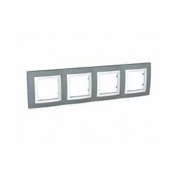 Krycí rámeček čtyřnásobný kompletní, Technico/polar MGU2.008.858 UNICA Basic Schneider Electric