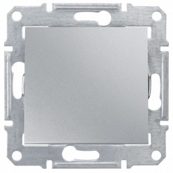 Spínač jednopólový, ř. 1, alu SDN0100160 SEDNA Schneider Electric