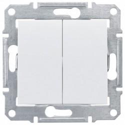 Přepínač dvojitý střídavý, ř. 6+6 (5b), polar SDN0600121 SEDNA Schneider Electric