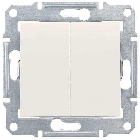 Přepínač dvojitý střídavý, ř. 6+6 (5b), cream SDN0600123 SEDNA Schneider Electric