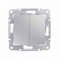 Přepínač dvojitý střídavý, ř. 6+6 (5b), alu SDN0600160 SEDNA Schneider Electric