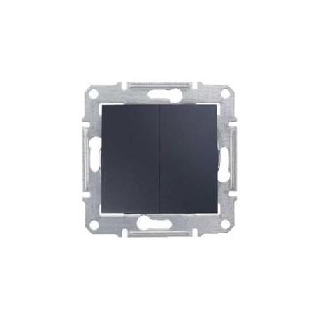 Přepínač dvojitý střídavý, ř. 6+6 (5b), graphite SDN0600170 SEDNA Schneider Electric