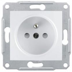 Zásuvka 2P+PE s dětskými clonkami, polar SDN2800121 SEDNA Schneider Electric