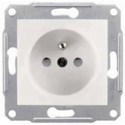 Zásuvka 2P+PE s dětskými clonkami a ochranou před přepětím, cream SDN2800123P SEDNA Schneider Electric