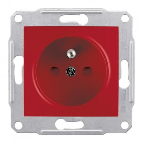 Zásuvka 2P+PE s dětskými clonkami, red SDN2800441 SEDNA Schneider Electric