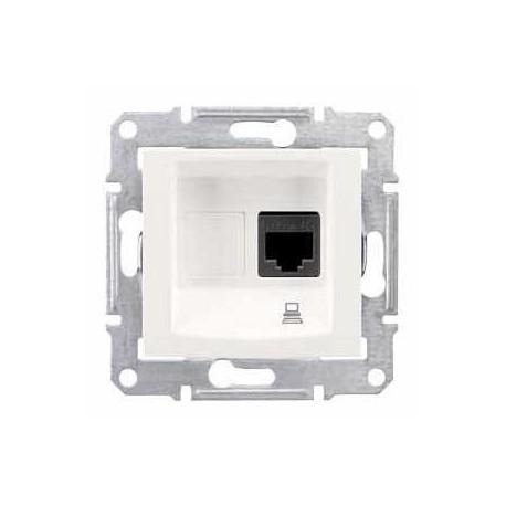 Zásuvka datová 1xRJ45 kat.5e UTP, cream SDN4300123 SEDNA Schneider Electric