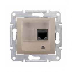 Zásuvka datová 1xRJ45 kat.5e UTP, titan SDN4300168 SEDNA Schneider Electric