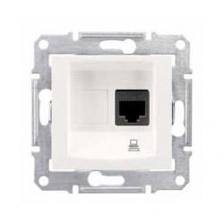 Zásuvka datová 1xRJ45 kat.6 UTP, cream SDN4700123 SEDNA Schneider Electric