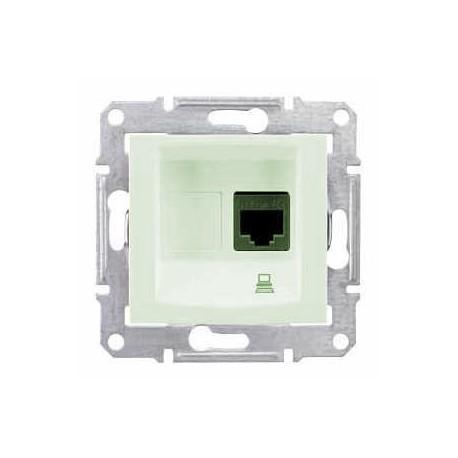 Zásuvka datová 1xRJ45 kat.6 UTP, biege SDN4700147 SEDNA Schneider Electric