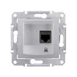 Zásuvka datová 1xRJ45 kat.6 UTP, alu SDN4700160 SEDNA Schneider Electric