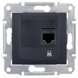 Zásuvka datová 1xRJ45 kat.6 UTP, graphite SDN4700170 SEDNA Schneider Electric