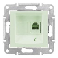 Zásuvka telefonní 1xRJ11, biege SDN4101147 SEDNA Schneider Electric