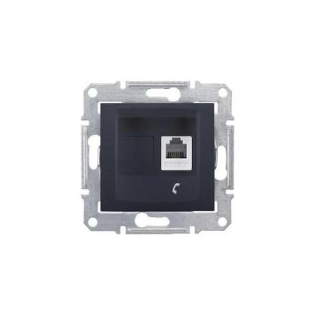 Zásuvka telefonní 1xRJ11, graphite SDN4101170 SEDNA Schneider Electric
