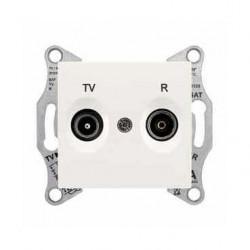 Zásuvka TV-R průběžná 8 dB, cream SDN3301323 SEDNA Schneider Electric