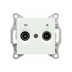 Zásuvka TV-R průběžná 8 dB, biege SDN3301347 SEDNA Schneider Electric