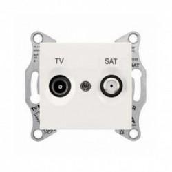 Zásuvka TV/SAT koncová 1dB, cream SDN3401623 SEDNA Schneider Electric