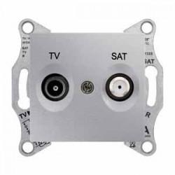 Zásuvka TV/SAT koncová 1dB, aluminium SDN3401660 SEDNA Schneider Electric